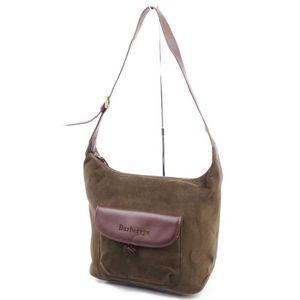 Vintage Burberrys Men's Women's Shoulder Bag Lining Check Suede Brown
