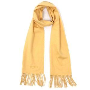 Furura FURLA Ladies Unisex Muffler Shawl Stole Cashmere 100% Yellow