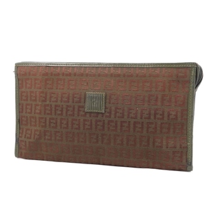Vintage Fendi FENDI made in Italy zucca pattern clutch bag second canvas leather green ladies men's 鞄 vintage