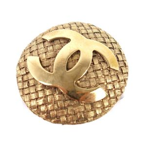 Vintage Chanel CHANEL 94 years Made in France Castellane Collection Ladies Coco Mark Earrings Gold