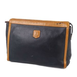 Vintage Celine CELINE Made in Italy Macadam Clutch Bag Second Leather Men Women Black Brown Ladies