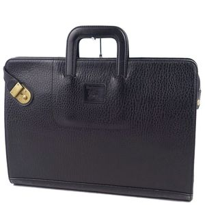 Vintage Burberrys Men's Briefcase Document Bag Handbag Business Black Antique Gold