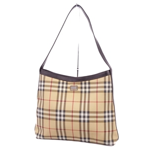 Burberry BURBERRY Ladies Check Shoulder Bag PVC Leather Beige