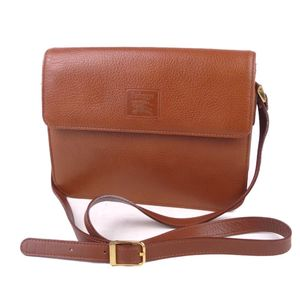 Vintage Burberry Women's Lining Check Shoulder Bag Calf Leather 鞄 Brown
