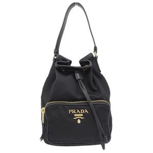 Prada PRADA drawstring bag nylon black 1BH038