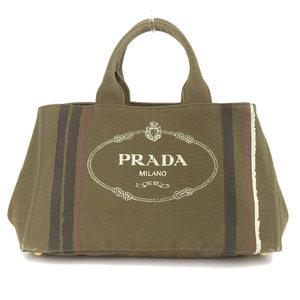 Prada PRADA Kanapa Tote Bag Canvas Khaki BN1872