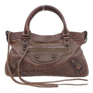 Balenciaga BALENCIAGA Editor's Bag The First 2WAY Handbag Brown 103208