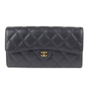 Chanel CHANEL Coco Mark with hook long wallet caviar skin 25 series A80758