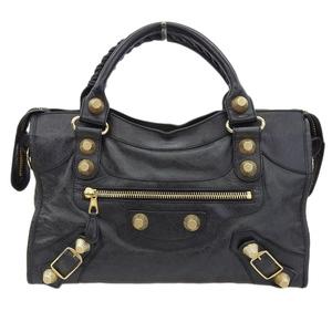 Balenciaga BALENCIAGA Giant City 2WAY Bag Leather Black 173084