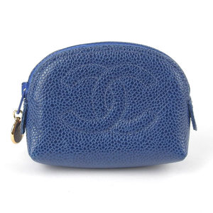 Chanel CHANEL Caviar Skin Coin Case Blue 3rd