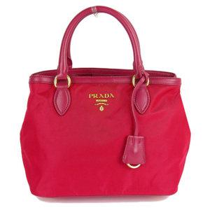 Prada PRADA 2018 product nylon x soft calf 2way shoulder tote bag 1BA172 handbag with guarantee card