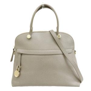 Furla Furura Piper 2way Handbag Gray Ladies