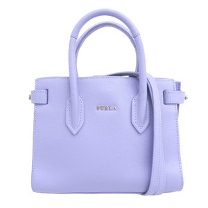 Furura FURLA Leather PIN Mini Crossbody 2way Shoulder Handbag Purple Ladies Inside Pocket × 1