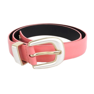 Chanel CHANEL 2017 Products Patent Leather Faux Pearl Buckle Coco Mark Belt 75cm Pink Ladies B17P