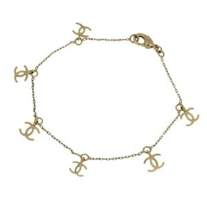 Genuine CHANEL Chanel Coco Mark G metal bracelet 09P