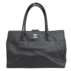Genuine CHANEL Chanel Caviar Executive Tote Black 12s Leather