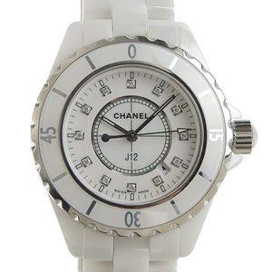 Genuine CHANEL Chanel J12 12P Diamond Ladies Quartz Wrist Watch H1628