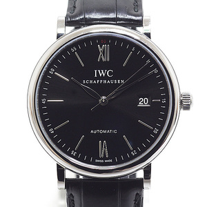 IWC Mens Portofino IW356502 Black (Black) Dial Automatic