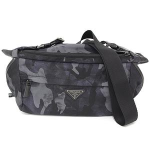 Prada PRADA nylon camouflage shoulder bag gray VA0991 body messenger