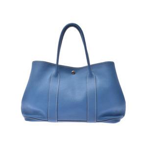 COLOR Hermes Garden Party 36 Azure □ O Stamp Ladies Negonda Handbag Tote B Rank HERMES Used Ginzo