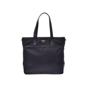 Prada 2WAY Tote Bag Black 2VG032 Current Men's Women's Nylon × Calf A Rank Good Condition PRADA Gala Strap Used Ginzo