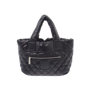 Chanel Coco Cocoon Tote PM Black Ladies Nylon Bag AB Rank CHANEL Gala Used Ginzo
