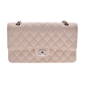 CHANEL MATRASE chain shoulder bag ivory SV metal fittings lady's caviar skin new beauty goods used silver warehouse