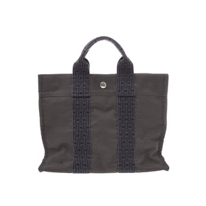 COLOR Hermes Yale Line PM Gray Men's Women's Tote Bag AB Rank HERMES Used Ginzo