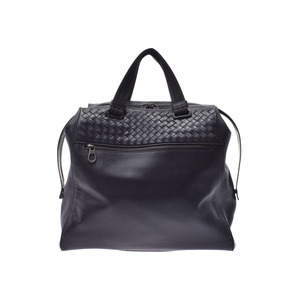 Bottega Veneta Handbag Intrechart Black Ladies' Men's Leather B Rank BOTTEGA VENETA Used Ginzo