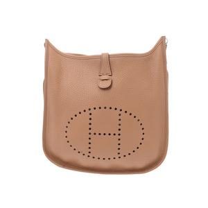 Hermes Evelyn 3 PM Tabac camel SV metal fittings □ N stamped ladies men's Toryon Clémans shoulder bag A rank HERMES used silver warehouse