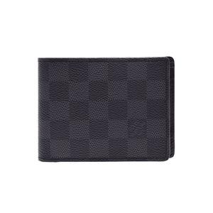 ルイ・ヴィトン(Louis Vuitton) ルイヴィトン グラフィット ポルトフォイユ ミュルティプル 黒 N62663 メンズ 本革 二ツ折札入れ Aランク LOUIS VUITTON 中古 銀蔵