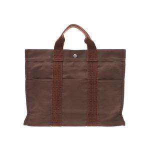Hermes Aleline MM Maron Men's Women's Tote Bag B Rank HERMES Used Ginzo