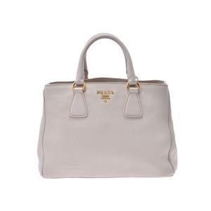 Prada 2WAY Handbag Ivory BN2579 Ladies Calf AB Rank PRADA GARA With Strap Used Ginzo