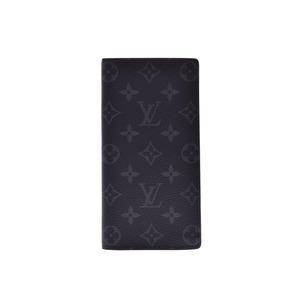 ルイ・ヴィトン(Louis Vuitton) ルイヴィトン エクリプス ポルトフォイユ ブラザ 黒 M61697 メンズ 本革 長財布 Aランク 美品 LOUIS VUITTON 中古 銀蔵