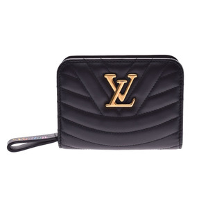 ルイ・ヴィトン(Louis Vuitton) ルイヴィトン ニューウェーブ ジプトコンパクトウォレット 黒 M63789 レディース レザー 財布 ABランク LOUIS VUITTON 中古 銀蔵
