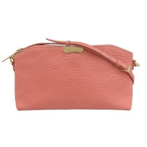 BURBERRY LONDON Burberry NEW Signature Grain Leather 2WAY Shoulder Bag Clutch Pink Ladies 3971102