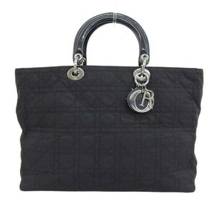 CHRISTIAN DIOR Christian Dior Canage Tote Bag Nylon Black Ladies