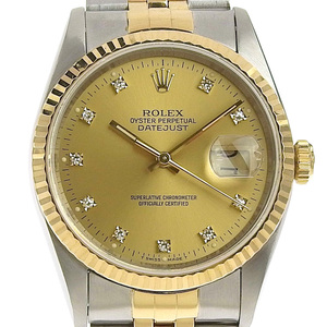 Rolex ROLEX Datejust Mens Automatic Watch 16233G S Number