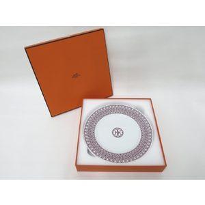 Hermes H Deco H-DECO Ash ROUGE Plate