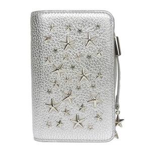Jimmy Choo studs compact bi-fold wallet silver