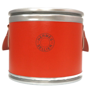 Hermes saddle box foo silver metal multi-box harness case serie object drum can 0129HERMES