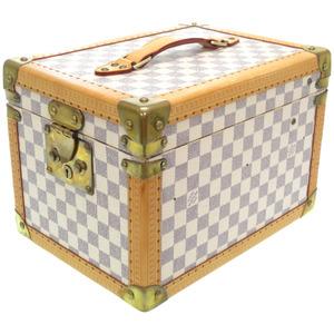 Louis Vuitton Damier Azur Bowatt Furacon Jewelry Case Makeup Box Cosmetic Bag N48032 LV 0222LOUIS VUITTON