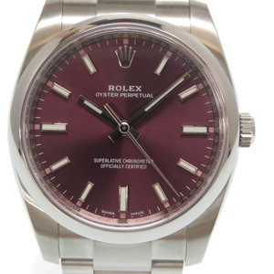 Rolex Oyster Perpetual Red Grape dial Automatic watch 114200 Random 2019 Purchase 0004ROLEX Men