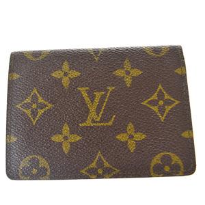 ルイ・ヴィトン(Louis Vuitton) モノグラム ポルト2カルト ヴェルティカル M60533 モノグラム 定期入れ ブラウン