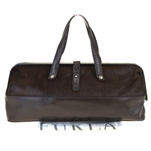 Furla Doctor Fur Handbag Brown