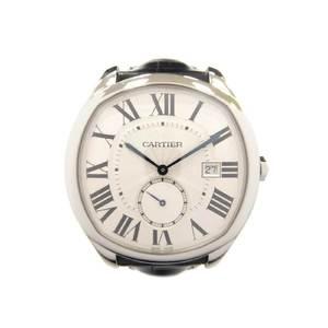 CARTIER Drive de Cartier Steel Leather Automatic Mens Watch WSNM0004