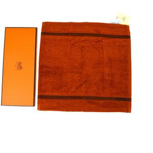 エルメス(Hermes) フェイスタオル オレンジ 03GA150