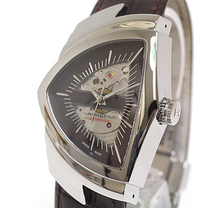 HAMILTON Mens Watch Ventura H245150 Automatic winding Brown Dial