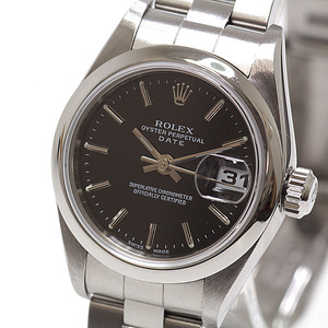 ROLEX Oyster Perpetual Date 79160 Serial F Steel Automatic Ladies Watch