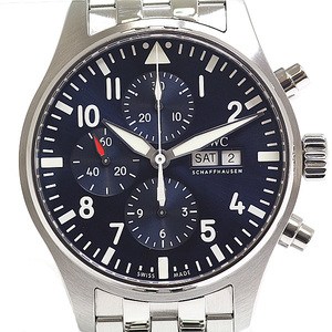 IWC Pilot Doppel Chronograph Steel Automatic Mens Watch IW377717